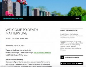 Welcome To Death Matters Live